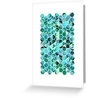 Glassed hexagons Greeting Card