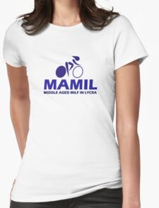 Funny Women's Cycling MAMIL Middle Aged MILF In Lycra Joke T-Shirt
