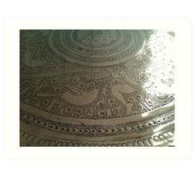 silver plate Art Print