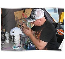 Man At Work: Air Brush Artist Poster