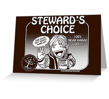 Steward's Choice Coffee Greeting Card