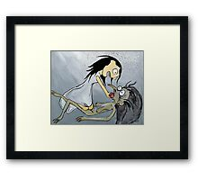 Snow White and The Hag Framed Print