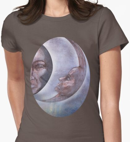 The Sun And The Moon Womens Fitted T-Shirt