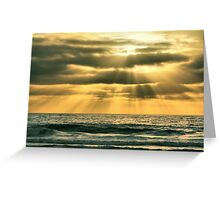 Mission Beach Evening Greeting Card