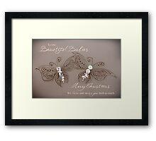 Beautiful Babies - Multiple Loss/Twins Christmas Framed Print