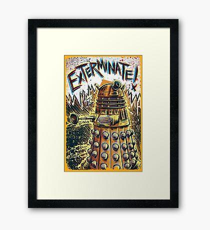 Dalek Dr Who art the Doctor Who BBC davros tardis the doctor david tennant exterminate matt smith british gridlock stolen earth sci fi christmas joe badon Framed Print