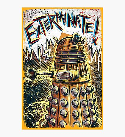 Dalek Dr Who art the Doctor Who BBC davros tardis the doctor david tennant exterminate matt smith british gridlock stolen earth sci fi christmas joe badon Photographic Print