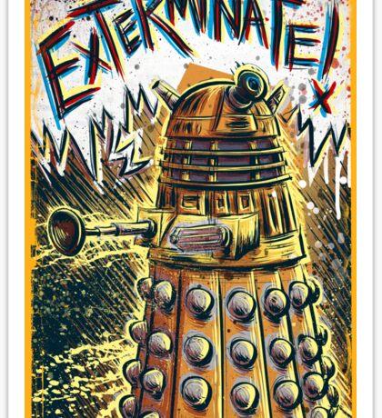 Dalek Dr Who art the Doctor Who BBC davros tardis the doctor david tennant exterminate matt smith british gridlock stolen earth sci fi christmas joe badon Sticker