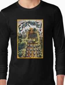 Dalek Dr Who art the Doctor Who BBC davros tardis the doctor david tennant exterminate matt smith british gridlock stolen earth sci fi christmas joe badon Long Sleeve T-Shirt