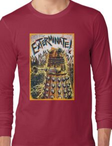Dalek Dr Who art the Doctor Who BBC davros tardis the doctor david tennant exterminate matt smith british gridlock stolen earth sci fi christmas joe badon Long Sleeve T-Shirt