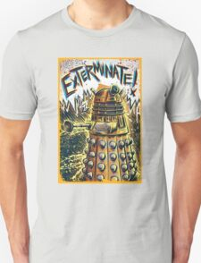 Dalek Dr Who art the Doctor Who BBC davros tardis the doctor david tennant exterminate matt smith british gridlock stolen earth sci fi christmas joe badon T-Shirt
