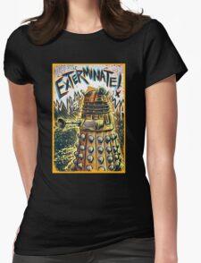 Dalek Dr Who art the Doctor Who BBC davros tardis the doctor david tennant exterminate matt smith british gridlock stolen earth sci fi christmas joe badon Womens Fitted T-Shirt