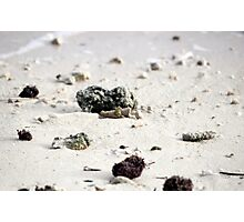 Pebbles in the sand 2 Photographic Print