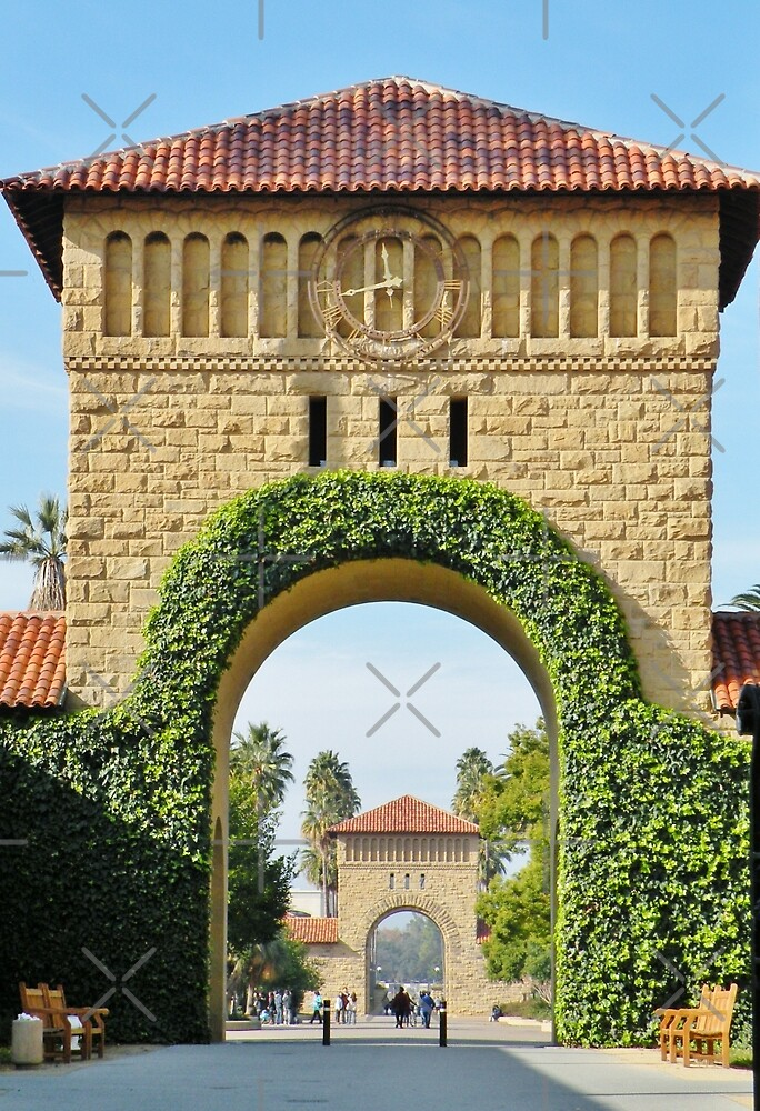 Arches to Stanford's Main Quad by Martha Sherman