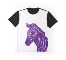 Zebra Sketch Purple Graphic T-Shirt