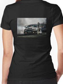 1SK1DR Burnout Women's Fitted V-Neck T-Shirt
