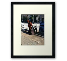 Man and best friend Framed Print