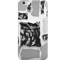 Black and White Intentions iPhone Case/Skin