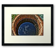 Piece of sky Framed Print