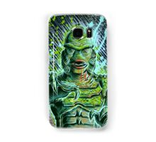 Creature from the black lagoon art print halloween monster movie horror sci fi halloween christmas lake universal monsters film black and white joe badon Samsung Galaxy Case/Skin