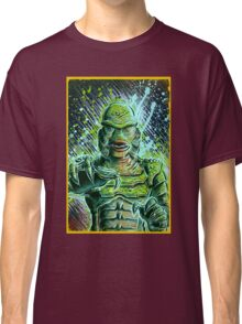 Creature from the black lagoon art print halloween monster movie horror sci fi halloween christmas lake universal monsters film black and white joe badon Classic T-Shirt
