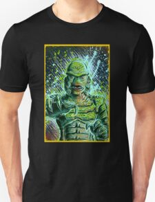 Creature from the black lagoon art print halloween monster movie horror sci fi halloween christmas lake universal monsters film black and white joe badon Unisex T-Shirt