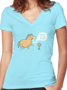 My poo will help you grow Women's Fitted V-Neck T-Shirt
