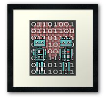 Robots in love Framed Print