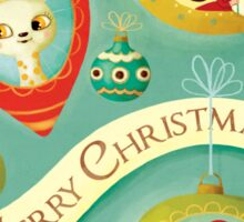Vintage Merry Christmas Sticker
