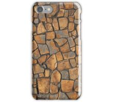 Background of stone wall texture photo iPhone Case/Skin
