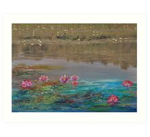 surreal waterlillies Art Print