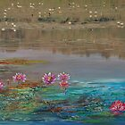 surreal waterlillies by Gigi Guimbeau