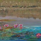 surreal waterlillies by Gigi Guimbeau
