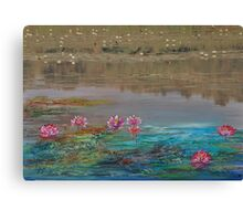 surreal waterlillies Canvas Print