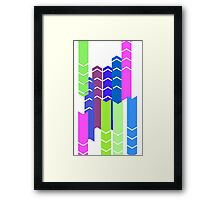 Coloring Arrow Framed Print