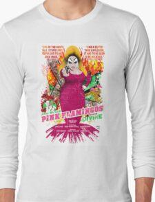 John Waters Pink Flamingos Divine Cult Movie  Long Sleeve T-Shirt
