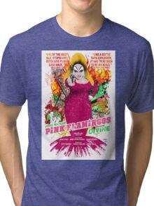 John Waters Pink Flamingos Divine Cult Movie  Tri-blend T-Shirt