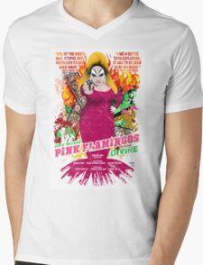 John Waters Pink Flamingos Divine Cult Movie  Mens V-Neck T-Shirt