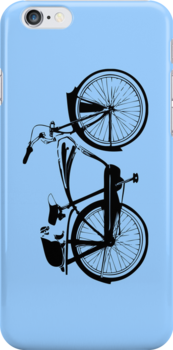 Badger On A Bicycle Blue Cases by M  Bianchi