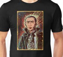 Dracula Bela Lugosi art print classic horror universal monster monsters old movie film vampire fangs cape bat 1931 bram stoker halloween art joe badon christmas Unisex T-Shirt