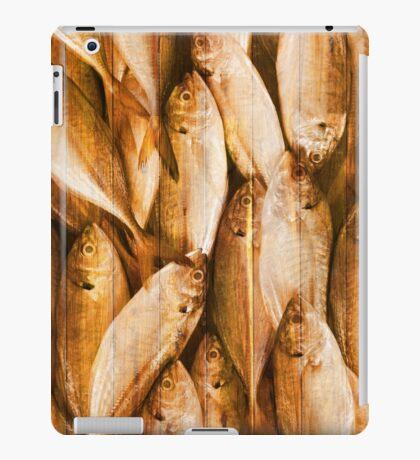 fish pattern on wood iPad Case/Skin