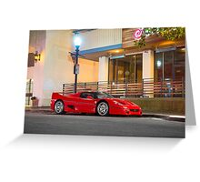 Red Ferrari F50 Greeting Card