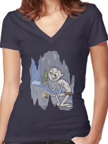 Fish and Precious Women's Fitted V-Neck T-Shirt