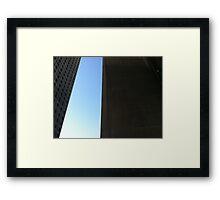 Seattle sculpture sky Framed Print