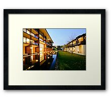 contemporary architecture Framed Print