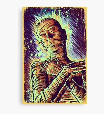 The Mummy Art joe badon universal monster monsters bandages horror classic movie film Boris Karloff Halloween Egyptian prince Imhotep Canvas Print