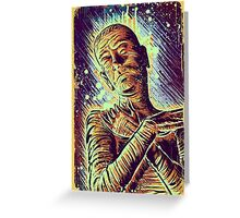 The Mummy Art joe badon universal monster monsters bandages horror classic movie film Boris Karloff Halloween Egyptian prince Imhotep Greeting Card