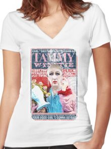 Sordid Lives Earl Brother Boy Ingram as Tammy Wynette Women's Fitted V-Neck T-Shirt