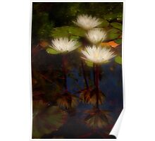 Angelic lilies Poster