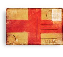 england flag on old postcard Canvas Print